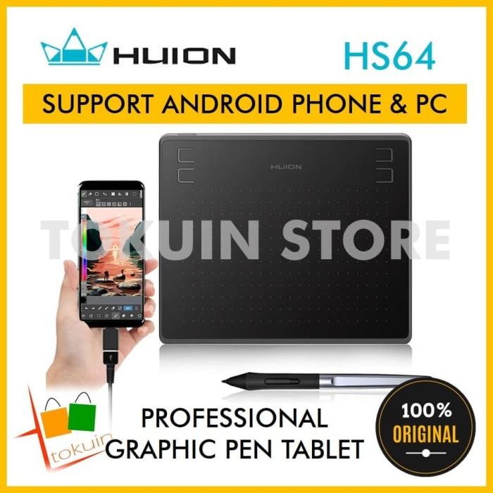 Jual HUION HS64 Graphic Drawing Pen Tablet Tab OTG Android alt H430P Gaomon  - Kota Surabaya - Tokuin | Tokopedia