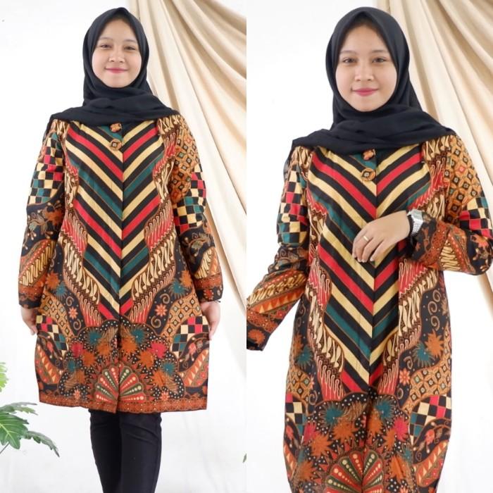 harga Blouse atasan blus batik murah wanita elegan pakaian trendy modern Tokopedia.com