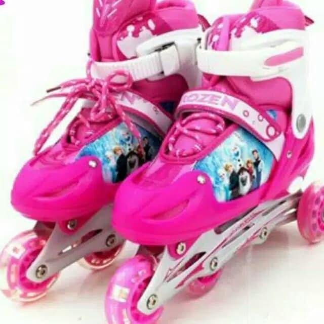 Jual Sepatu Roda Bajaj Inline Frozen 37 Fuchsia Jakarta Barat