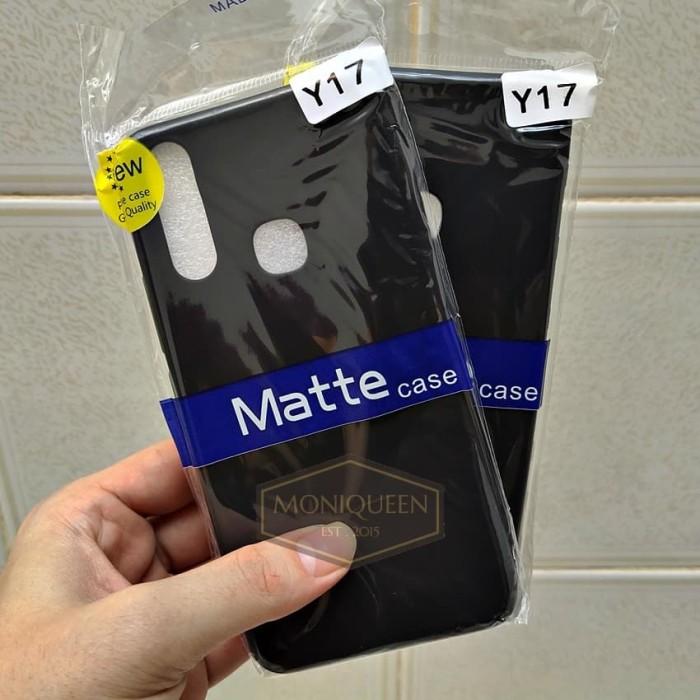 Foto Produk Vivo Y17 SLIM MATTE CASE SOFTCASE / SLIM Blackmatte case casing dari MoniQueenShop