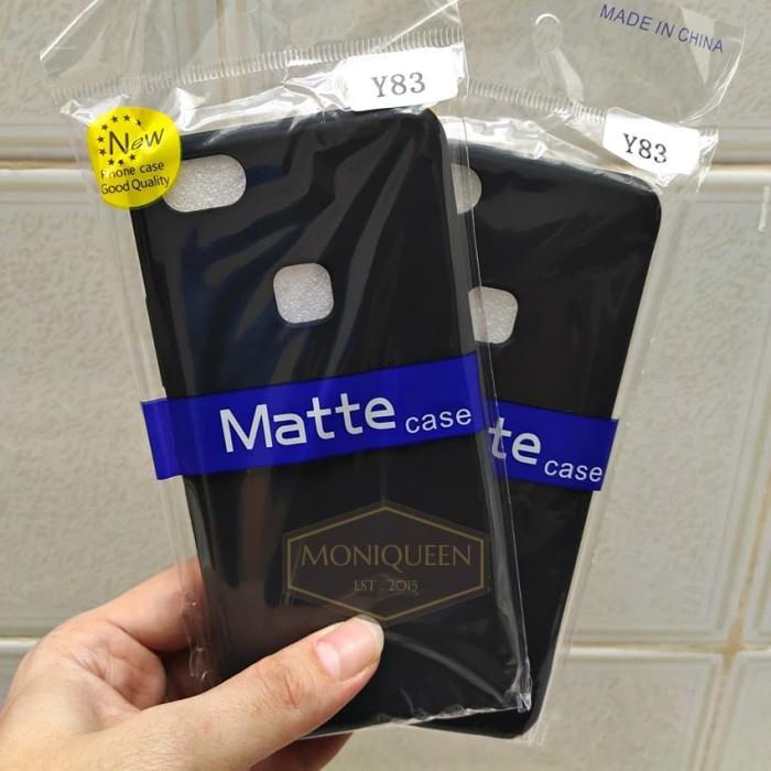Foto Produk Vivo Y83 SLIM BLACK MATTE CASE / Slim blackmatte softcase case dari MoniQueenShop