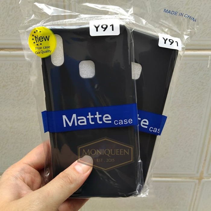 Foto Produk Vivo Y91 , Vivo Y95 SLIM BLACK MATTE CASE / Slim blackmatte softcase dari MoniQueenShop