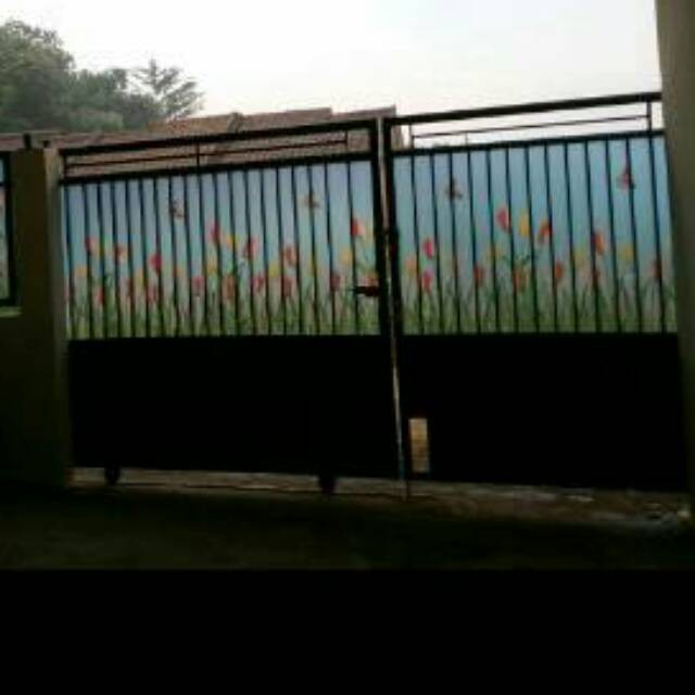 Jual Fiber Penutup Pagar Fiber Pagar Motif Tulip Kota Surabaya
