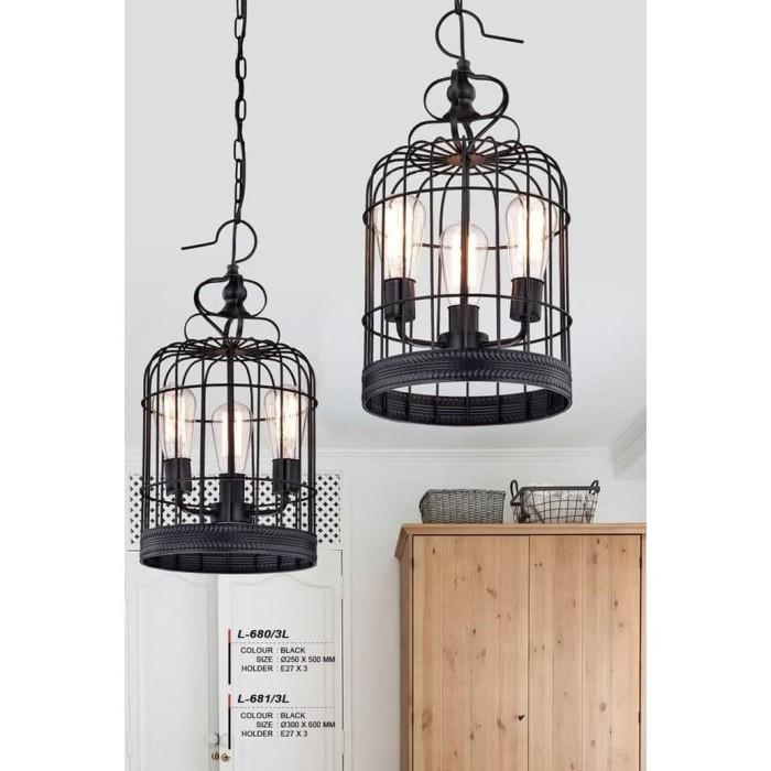harga Lampu hias model l-681/3l gantung bentuk sangkar burung Tokopedia.com