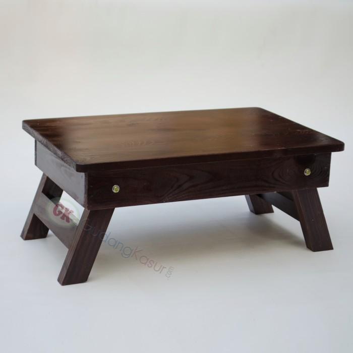 Foto Produk Meja lipat kayu jati belanda untuk laptop, belajar, dispenser dll dari Gudang Kasur dot com
