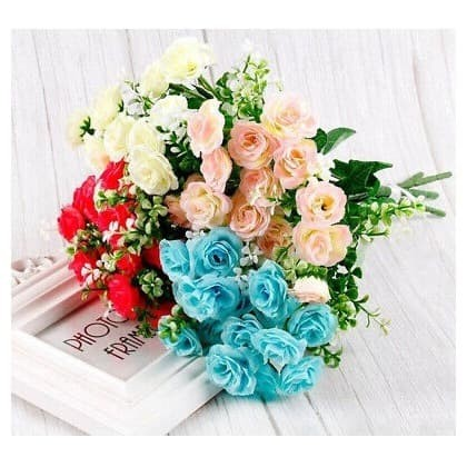 Jual Bunga Mawar Mini Artificial Fake Rose Flower Tanaman Hias Dekorasi Kab Bogor My Flower Garden Tokopedia