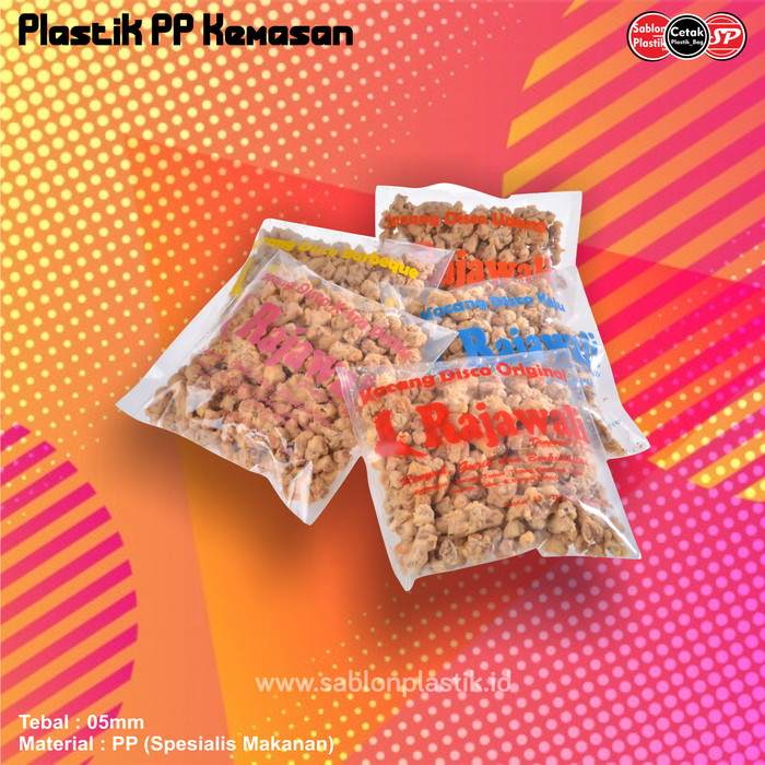 Jual Sablon Plastik Pp Kemasan 15cmx25cm Free Desain