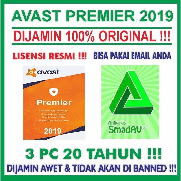 Jual Antivirus Avast Premier Untuk 3 PC UP 2031!! bonus SMADAV PRO 2018 ORI  - Kota Surabaya - Creative Software | Tokopedia