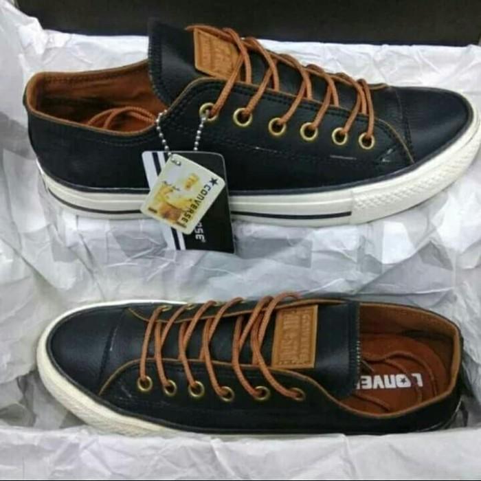 Foto Produk SEPATU PRIA CONVERSE KULIT 39 sd 43 BLACK dari sepatu25