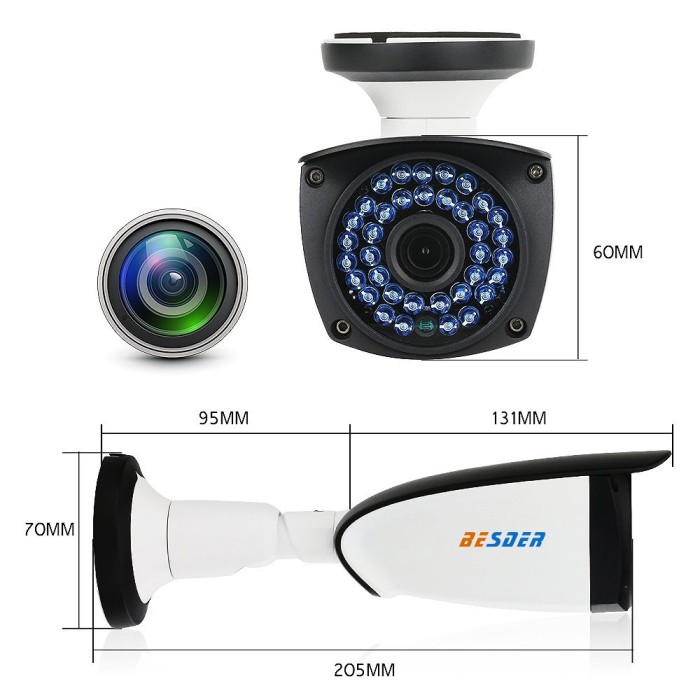 Jual Terlaris BESDER 1080P HI3518E CamHi APP Wifi IP CCTV Camera 2MP -  Jakarta Pusat - Wizard Shopping Club | Tokopedia