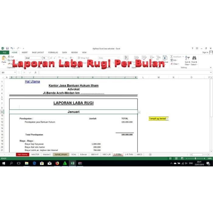 Jual Aplikasi Akuntansi Excel Perusahaan Jasa Kab Deli Serdang Tokoroli Tokopedia