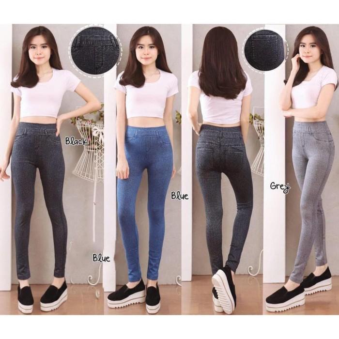 Jual Celana Legging Motif Jeans Asli Import Leging Jakarta Barat Aratista Collection Tokopedia