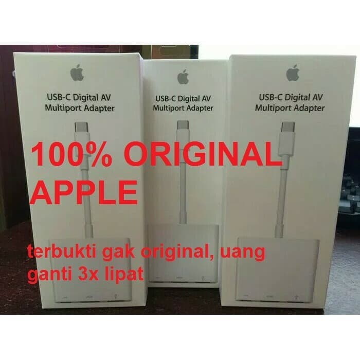 Foto Produk Apple USB-C to Digital AV Multiport Adapter Original dari Pasti Original Asli