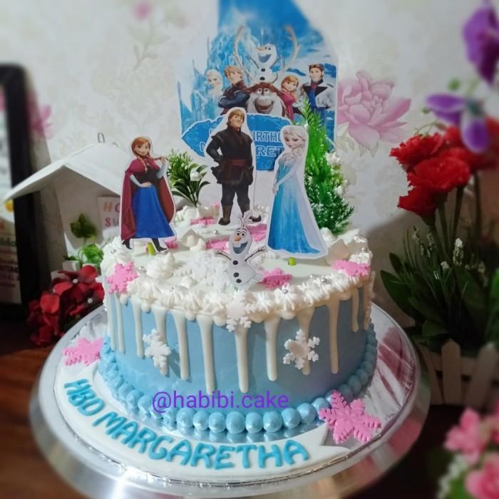 Jual Kue Ultah Frozen Cake Ultah Anak Perempuan Frozen Topper Frozen Kota Tangerang Selatan Baju Alya Shop Tokopedia
