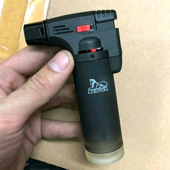 Foto Produk Blow Torch Lubinski SK-79 Alat Pemantik Api Gas Mini - Hitam dari Ical Store