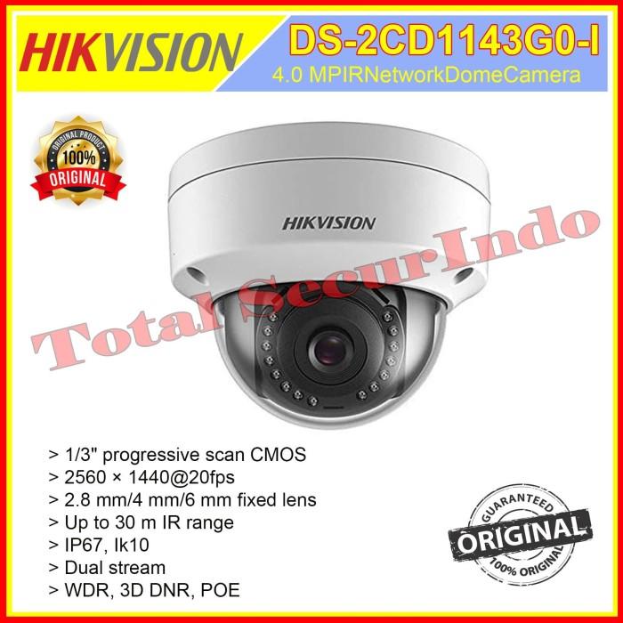 Hikvision 4MP POE IP Camera DS-2CD1043G0-I WDR  BULLET H.265 2.8MM  ORIGINAL