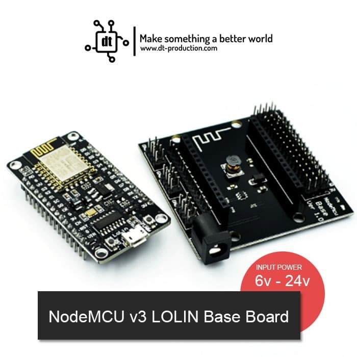 Foto Produk NodeMCU Base Board Project Board PCB IoT v3 CH340 dari DT Production