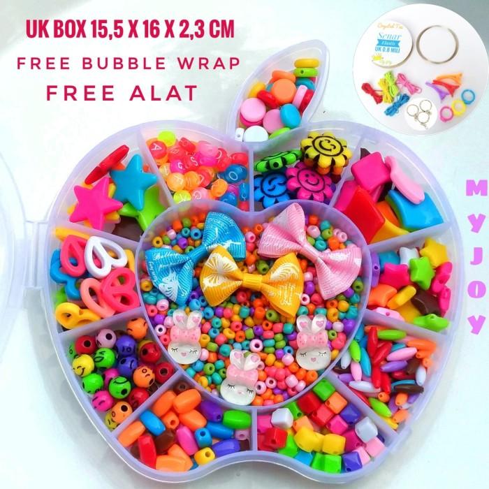 harga Mainan edukasi meronce manik plastik 14 model box apel Tokopedia.com