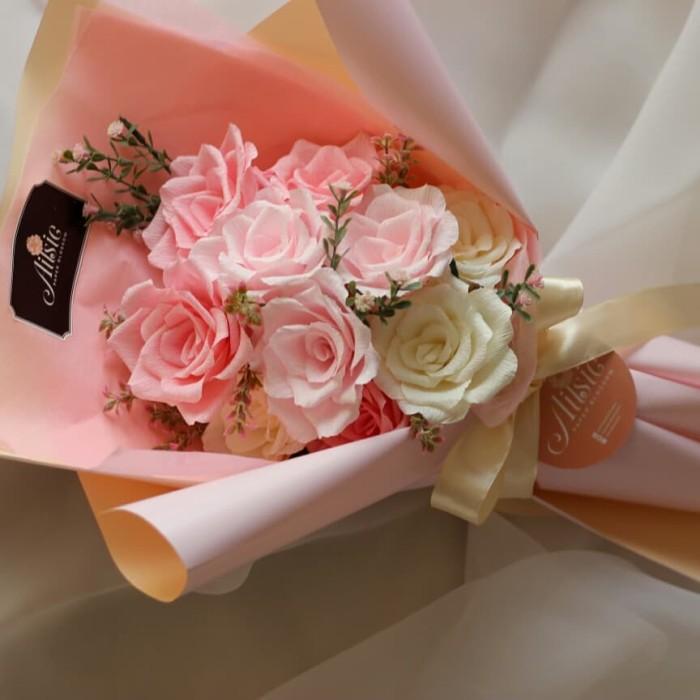 Jual Ready Stock Buket Bunga Mawar Kertas Hadiah Wisuda Ultah Pacar Kota Tangerang Ailsie S Paper Blossom Tokopedia