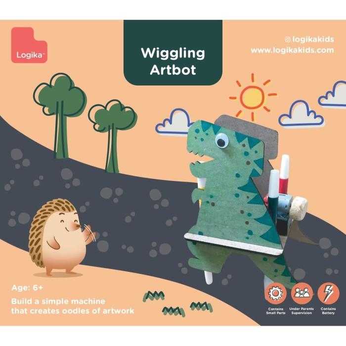 Foto Produk Mainan Edukasi Anak - Wiggling Artbot (Dino) dari LogikaKids