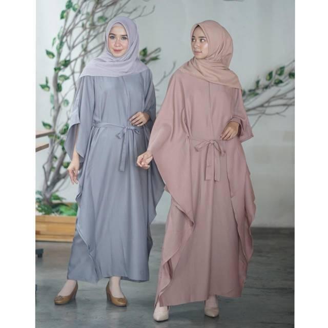 Jual Kaftan Batwing Kalong Baju Lebaran Muslim Hijaber Busui Friendly Jakarta Barat Abi Shop Tokopedia