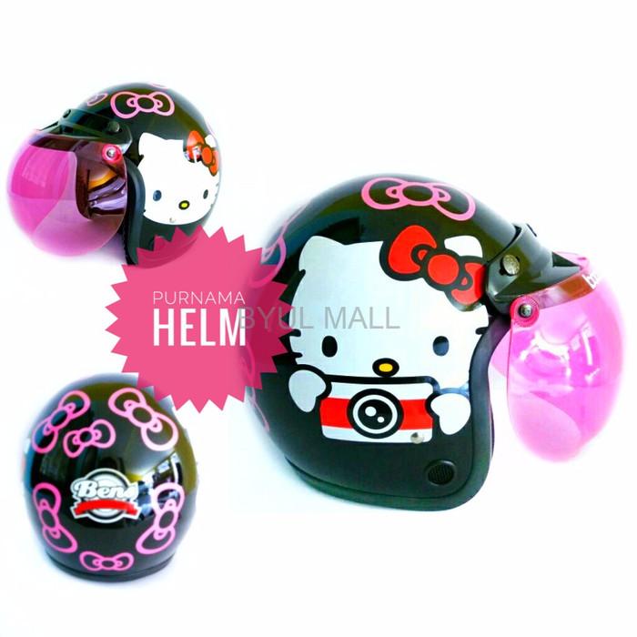 Jual Helm Racing Helm Motor Helm Retro Bogo Hello Kitty Kamera