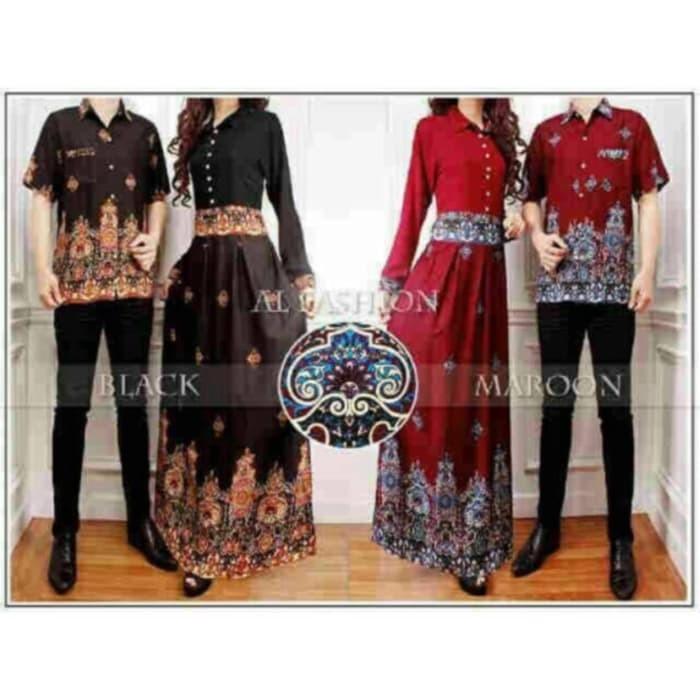 Jual New Baju Batik Couple Keluarga Gamis Wanita Anna Couple Muslim Jakarta Barat Clockshoping Tokopedia