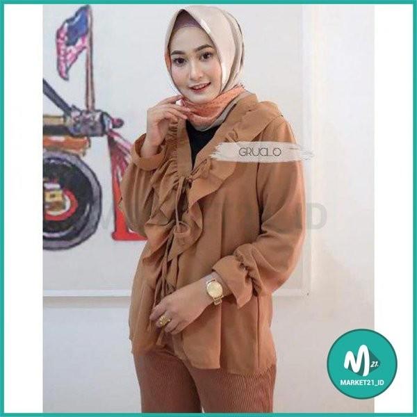Foto Produk BAJU ATASAN MUSLIM WANITA NINDY TOP MOCCA MURAH dari Market21_id