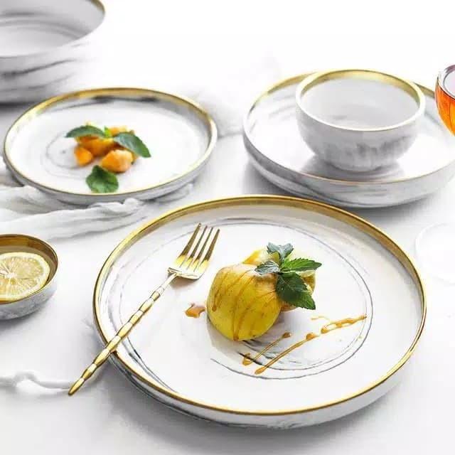 Foto Produk Piring Marble Plate High Quality Cantik Properti foto Size Large - L dari abeille05