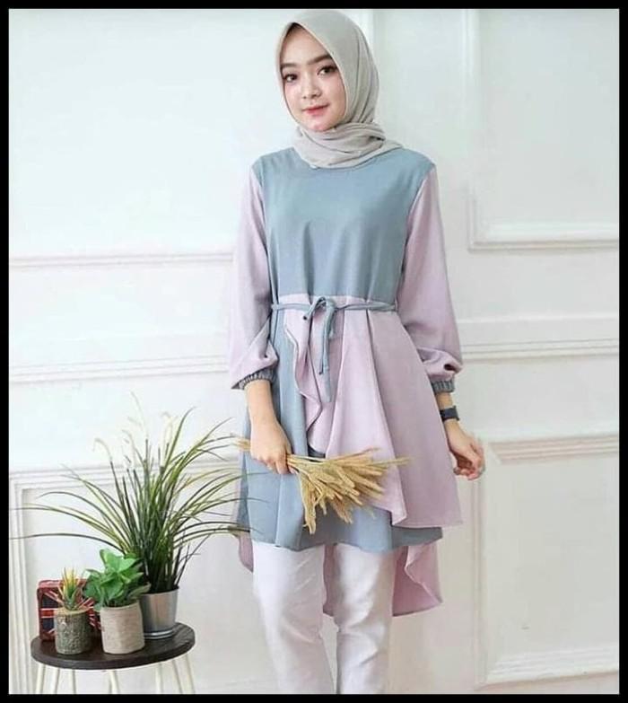Foto Produk Produk Berkualitas Inaka Long Tunik Baju Atasan Muslimah Tunik Wanita dari Basimah Jaya