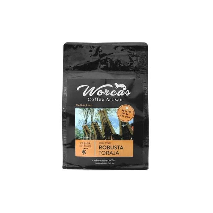 Foto Produk HOT SALE WORCAS Kopi Robusta Toraja 100gr - Medium Roast - KOPI BIJI dari jenifferlee
