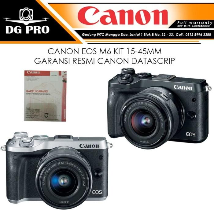 harga Canon eos m6 kit 15-45mm is stm - kamera mirrorles made in japan Tokopedia.com