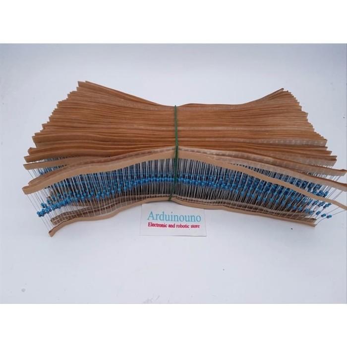 Foto Produk 10pcs resistor 100k Metal Film 100 Kilo Ohm1/4 watt 0.25W 1% Tolerance dari arduinouno