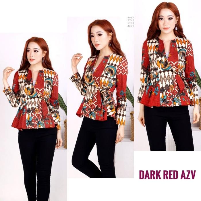 Jual Atasan Batik Wanita Blouse Batik Modern Blouse Kimono Tgn Pjg Dki Jakarta Misscandyclothingline Tokopedia