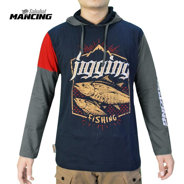 Foto Produk SM JIGGING FISHING - Kaos mancing hoodie | Baju mancing - Navy, M dari IFT Merchandise