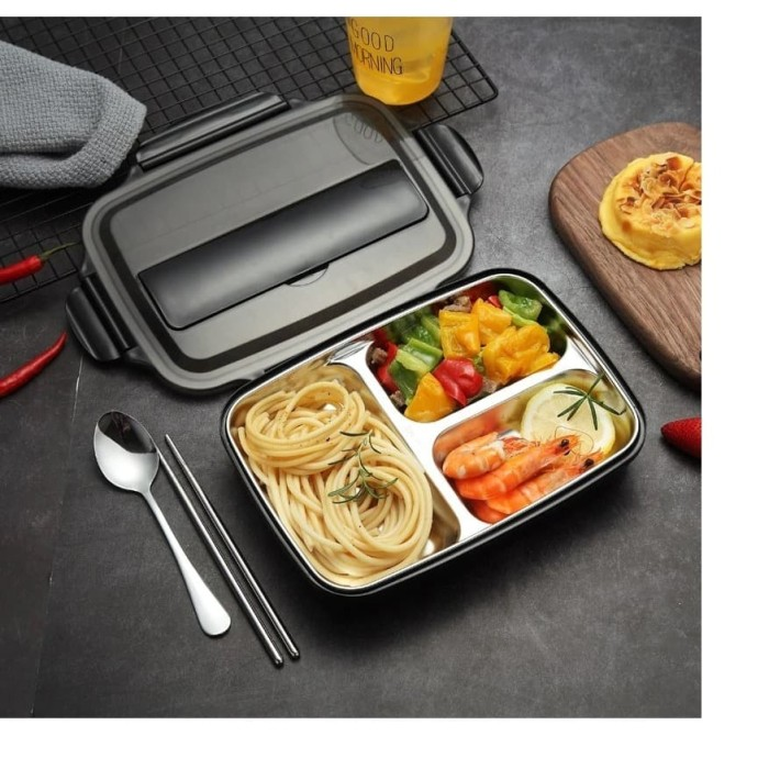 Jual stainless Steel lunch box kotak makan stainless ...