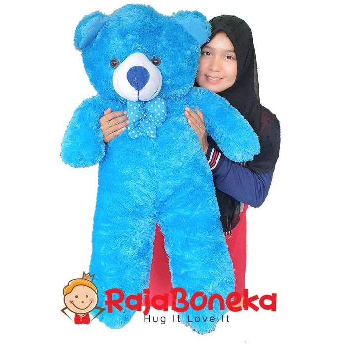 harga Boneka beruang teddy bear jumbo 90cm biru Tokopedia.com