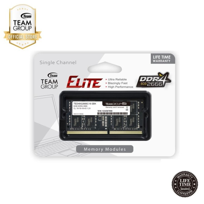 Foto Produk TEAMGROUP Memory Notebook DDR4 8GB 2666Mhz dari Teamgroup Official Store