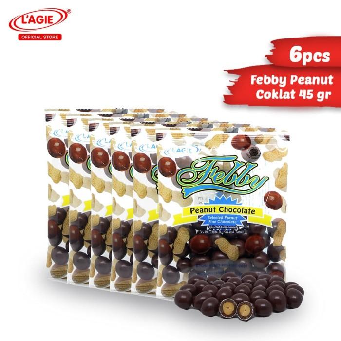 harga Lagie coklat kacang tanah febby peanut choc 6x45gr Tokopedia.com