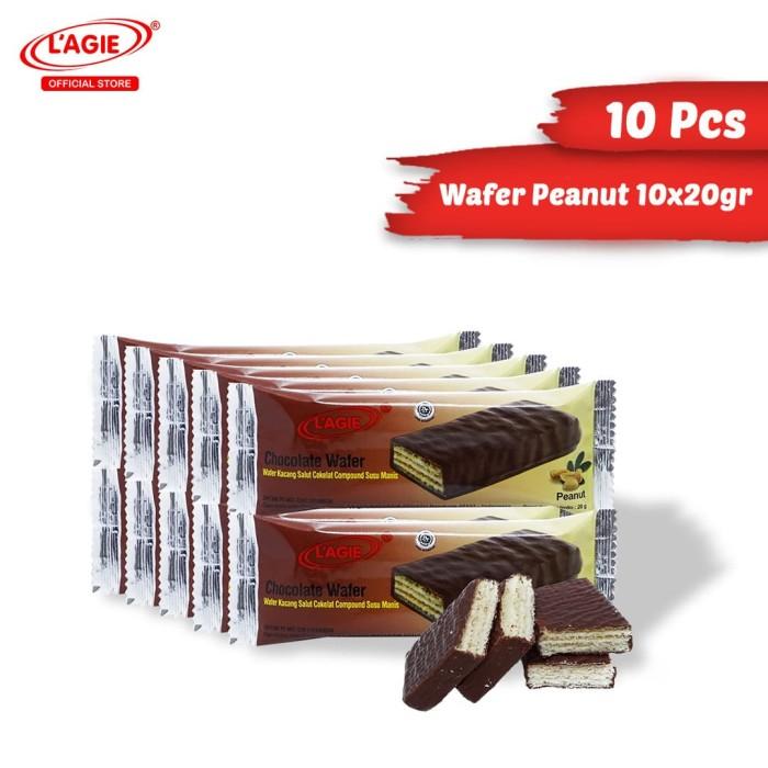 harga Lagie coklat wafer kacang tanah 10x20gr Tokopedia.com