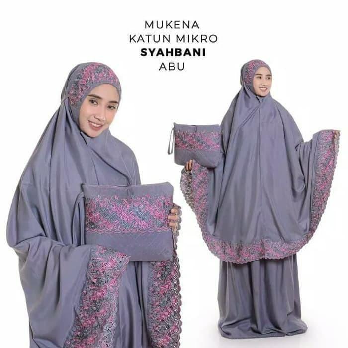 Foto Produk Mukena Dewasa Syahbani / Khadijah / Katun / Bordir dari Top Mukena