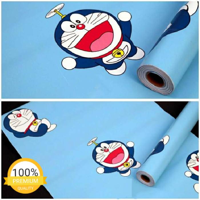 Jual Grosir Murah Wallpaper Sticker Dinding Warna Biru Motif
