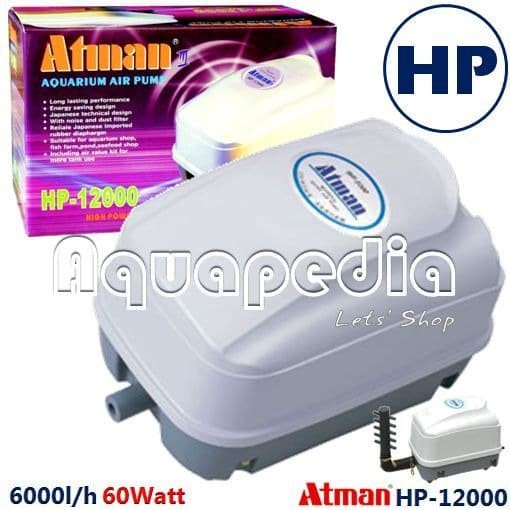 harga Atman hp-12000 pompa udara aerator high performance air pump Tokopedia.com