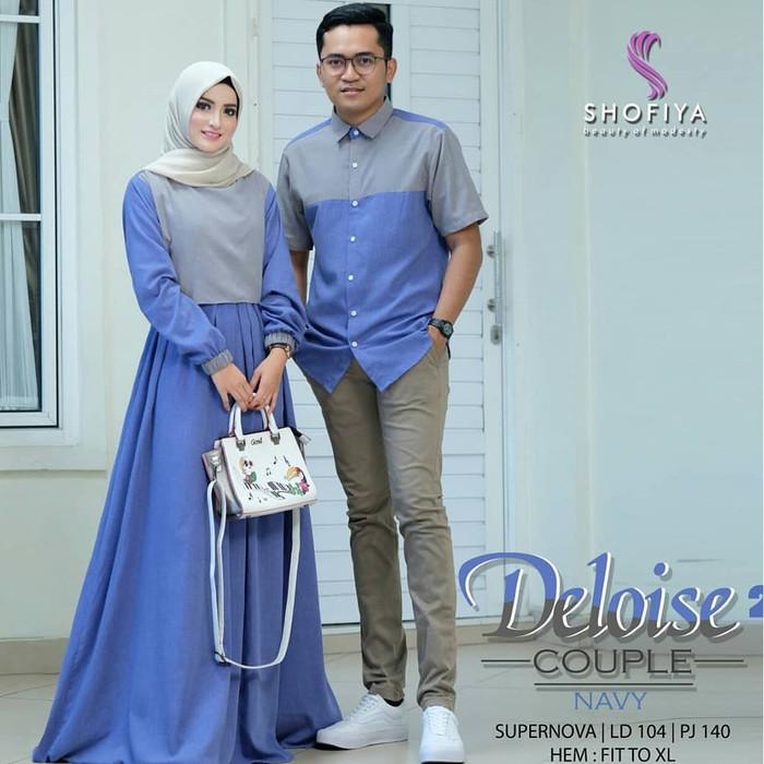 Jual Baju Gamis Wanita Terbaru Gamis Couple Pasangan Muslim Deloise Couple Kota Bandung Hayatti Gallery Tokopedia