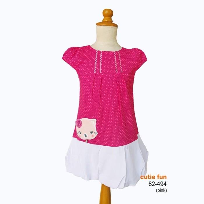 harga Cutie fun 82-494 pakaian baju dress anak perempuan (usia 2-11 tahun) - 2-3 tahun krem Tokopedia.com
