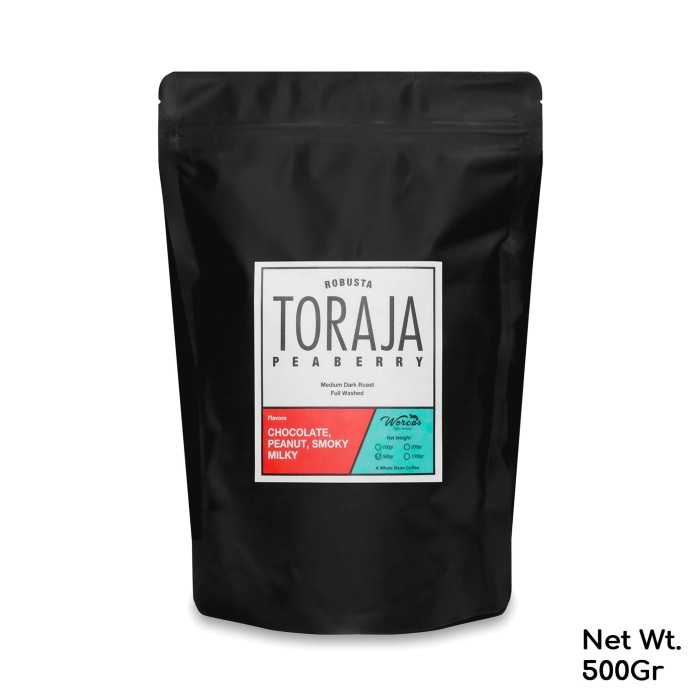 harga Kopi robusta toraja  peaberry  500 gram medium dark roast - kopi biji Tokopedia.com
