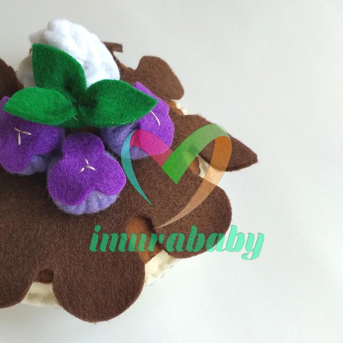 Foto Produk Mainan flanel - food flanel dessert dari imurababy
