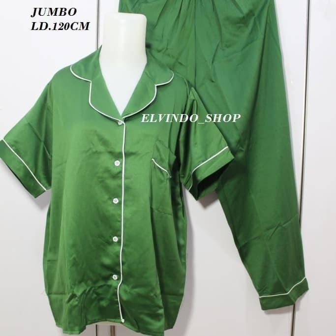 Foto Produk Piyama CP JUMBO Satin Polos - Maroon dari Elvindo_shop