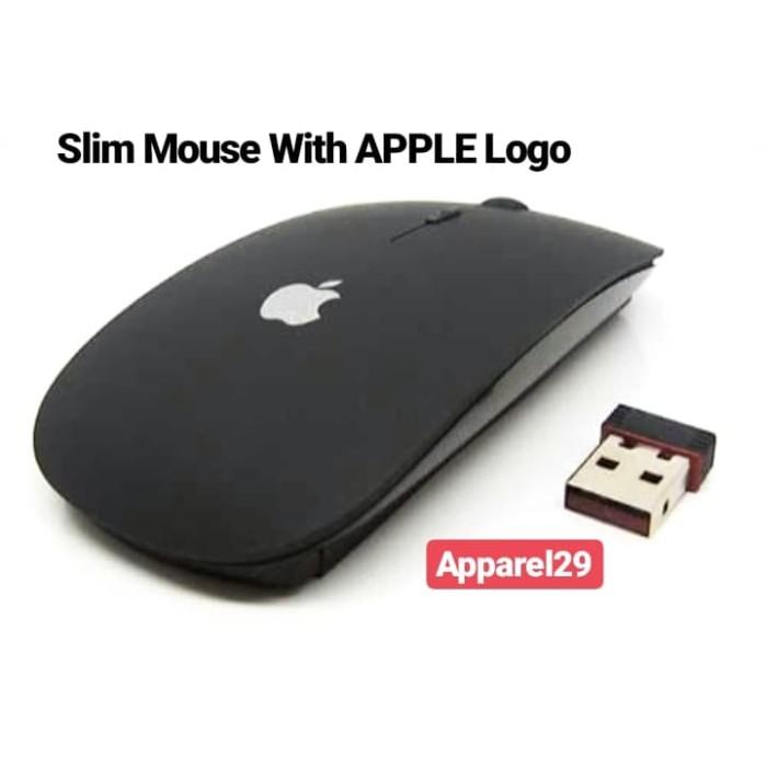 Foto Produk magic mouse slim Wireless Mouse with APPLE LOGO dari apparel29