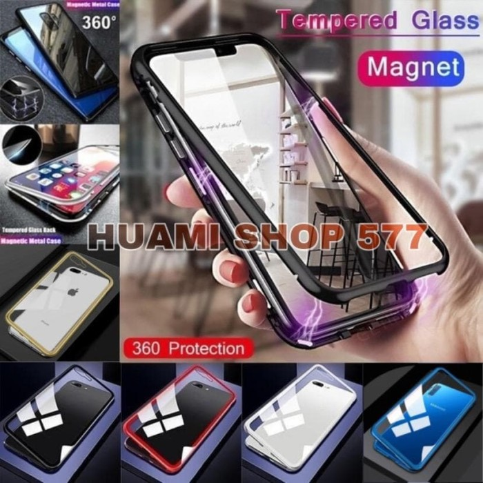 Foto Produk Luxury Magnetic Vivo Y12 / Y15 / Y17 Tempered Glass Hard Case Casing dari Huami Shop 577